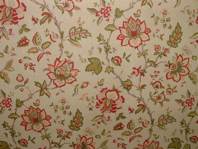 Ashley Wilde WILTON Raspberry FLORAL Curtain /Upholstery /Soft Furnish Fabric